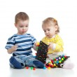 Childrenboy and girl playing together — Stock Photo