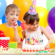 Adorable children celebrating birthday party — Stock Photo #10413088