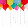 Colorful balloons isolated on white — Stock Photo #8717669