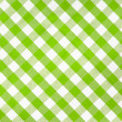 图库照片: Green checked fabric tablecloth