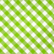 Stockfoto: Green checked fabric tablecloth