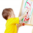 Child with paints — Stock Photo