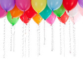 Colorful balloons isolated on white — Stockfoto