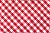 Red checked fabric tablecloth — Foto Stock