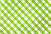 Toalha de tecido verificado verde — Foto Stock
