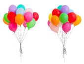Set of colorful balloons isolated on white — Stockfoto