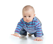 Funny baby goes down on all fours — Stock Photo