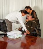 Rebelião de escritório — Foto Stock