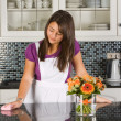 Dreaming in the kitchen — Stock Photo