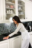 Cleaning with a smile — Stock Photo