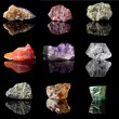Birthstones and semi precious gemstones — Stock Photo