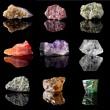 Birthstones and semi precious gemstones — Stock Photo