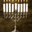 Stock Photo: Silver hanukkah