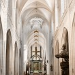 Cathedral nave — Stock Photo