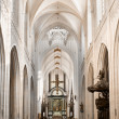 Stock Photo: Cathedral nave