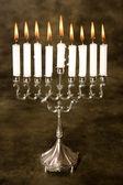 Silver hanukkah — Stock Photo