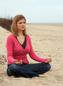 Morning meditation — Stock Photo