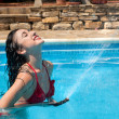 Refreshing water hose — Stock Photo