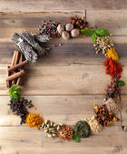 Beauty of spices and herbs — 图库照片