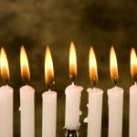 Hanukkah candles — Stock Photo #10401911