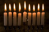 Nine candles — Stock Photo