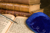Old jewish books — Stock Photo