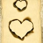Heart shape parchment — Stock Photo #10467709