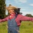 Living scarecrow — Stock Photo