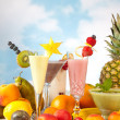 Party table with fruits — Stock Photo
