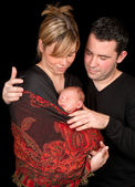 Family portrait with baby — Stock Photo