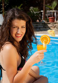 Orange juice on a hot day — Stock Photo