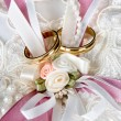 Rings and vows — Stock Photo