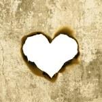 Heart shape parchment — Stock Photo #8665563