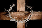 Cross and crown — Stock Photo