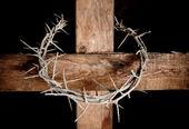 Krzyż i koronę — Zdjęcie stockowe