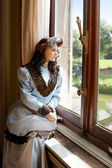 Lady in the castle — Stock Photo