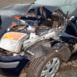 Wrecked car — Stockfoto