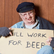 Stock Photo: Drunken beggar