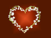 Heart of lillies — Stock Photo
