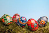 Ukrainian easter eggs — Stock Photo