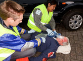 Araba kazasında yaralanma — Stok fotoğraf