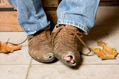 Battered shoes — Stock Photo