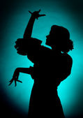 Dancing silhouette — Stock Photo