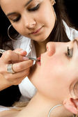 Lip make-up — Stock Photo