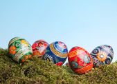Russian easter eggs — Stock Photo