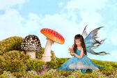 Fairy with frog prince — Stock Photo