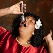 Gospel singer - Stock Photo