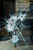 Smashed window — Stock Photo