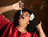 Gospel singer — Stock Photo