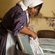 Stock Photo: Laundry maid